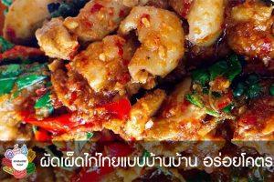 ผัดเผ็ดไก่ไทยแบบบ้านบ้าน อร่อยโคตร #กินอะไรดี